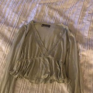 Urban outfitters mint long sleeve blouse